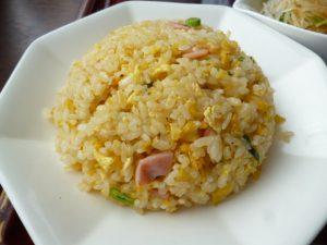 酢豚定食の炒飯