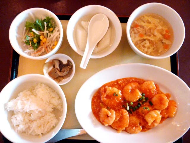 干焼蝦仁定食 ¥980