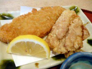 白身魚フライと鶏の唐揚げ