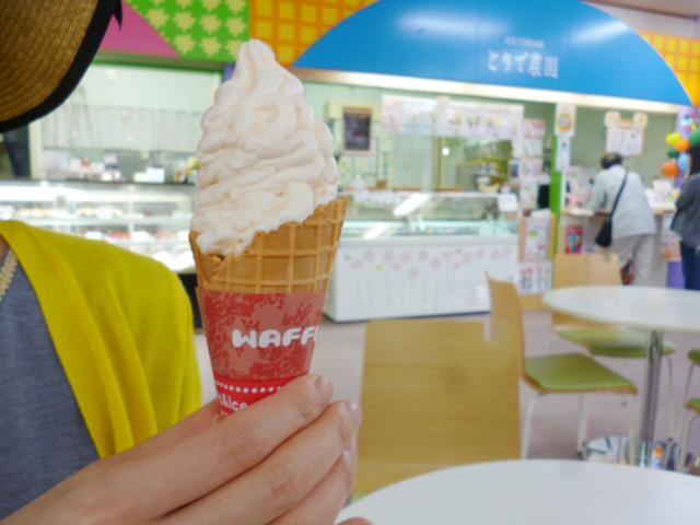 赤メロンソフトクリーム