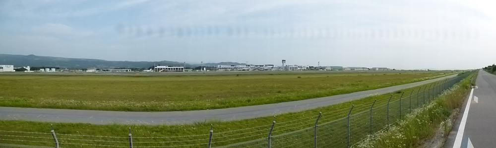 熊本空港裏 パノラマ写真