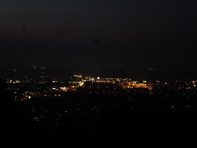 神園山の山頂 夜景