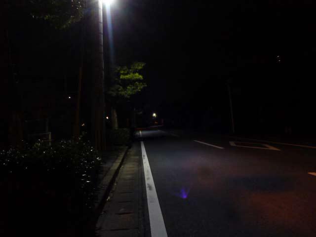 岩倉台入り口 夜