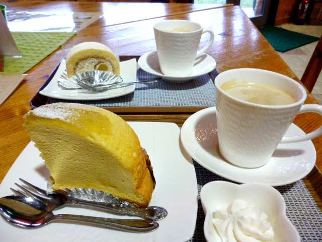 山鹿和栗のもんて+カフェオレ