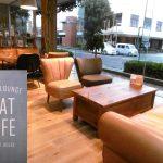 健軍のオシャレCafe ここのソファ気持ちいい『FLAT CAFE』