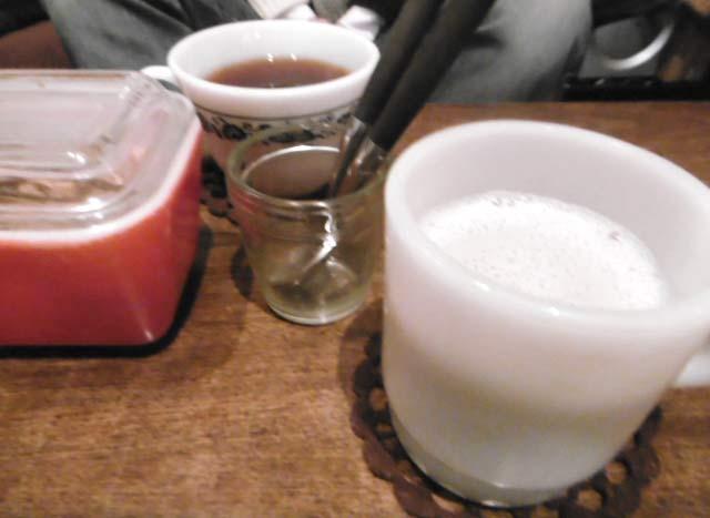 三年番茶の豆乳チャイHOT