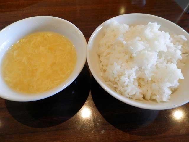 黄龍 ご飯とスープ