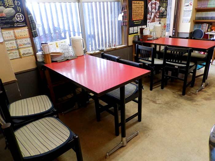広島お好み焼き 廣 テーブル席