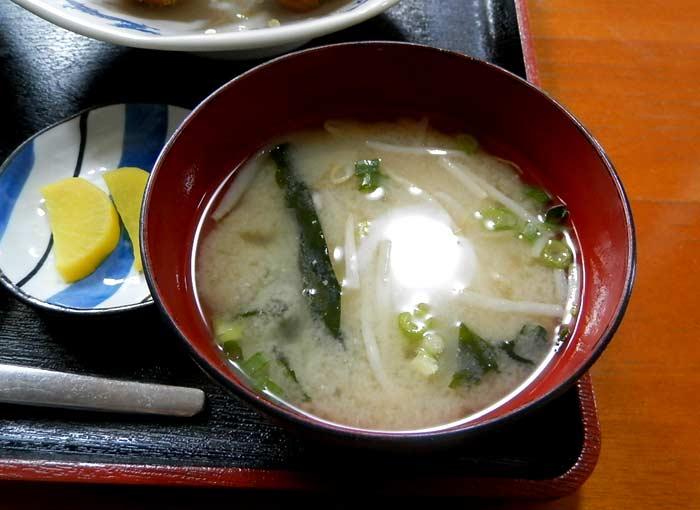 味さい食堂 お味噌汁&たくわん
