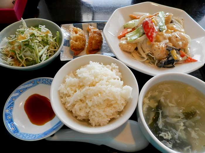 海天 エビマヨ定食