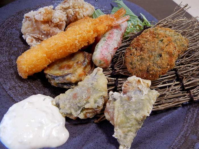 うま魚 ミックスフライ定食